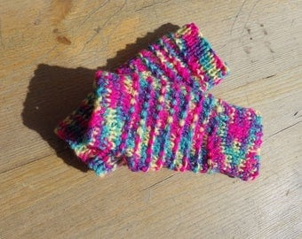 Wristies or Arm/Wrist Warmers/Fingerless Gloves in a Multi Colour