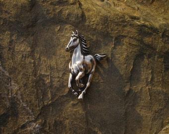 Sterling Silver Running Horse Pendant - #162
