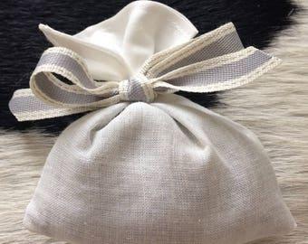 100% Linen French Lavender Bag - Handmade Lavender Sachet