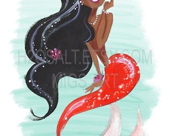 Mermaid Art - Tea Flower