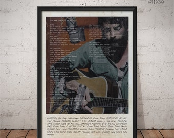 Ray LaMontagne Poster - You Are The Best Thing - Lyrics Print, Music Poster, Wall Art