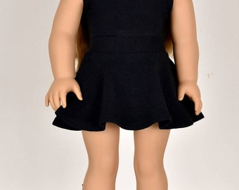 Skater Skirt Color Black 18 inch doll clothes