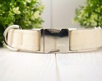 Canvas adjustable Dog Collar w/ Metal Buckle