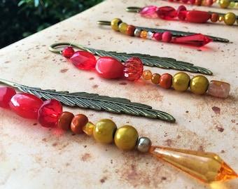 Phoenix Feather Metal Bookmarks