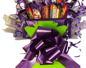 Bouquet of Cadbury Chocolate, 21 Piece Cadbury Chocolate Box, Chocolate Hamper, Chocolate Gift,  Chocolate Selection Box, Perfect Gift