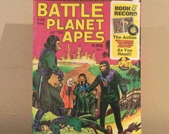 Battle For The Planet Of The Apes Record & Book