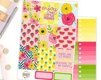 Enjoy The Little Things Vertical for use in Erin Condren Life Planner Deluxe Weekly Kit