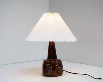 Lovely Ceramic Table Lamp In Brown And Blue Colors Manufactured By Søholm  (Soholm),