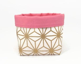 Storage basket, Gold, Storage bin, Fabric basket, Bathroom storage, House warming gift, Home organise, Gold storage basket, Nursery storage