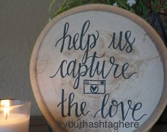 Your Wedding Hashtag Sign - Social Media - Wedding Signs - Rustic Wedding Sign - Custom Hashtag Wood Sign