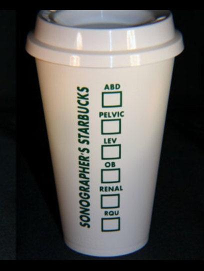 sonographer u0026 39 s personalized starbuck u0026 39 s cup nurse