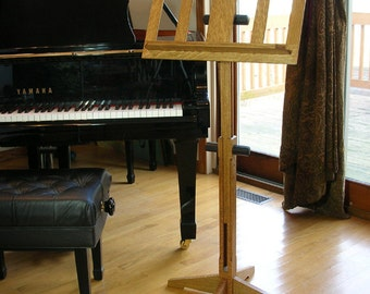 Music Stand in Oak