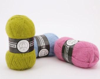 Angora yarn ANGORA MADAM TRICOTE, many colors of yarn, Angora yarn, acrylic yarn