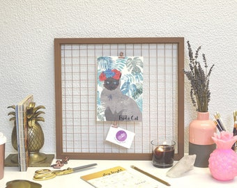 Frida Cat print  | funny Frida Kahlo tropical Illustration