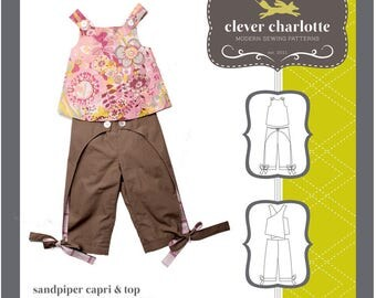 PATTERN - Sandpiper Capri & Top by Clever Charlotte
