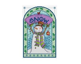 Let it Snow - Durene J Cross Stitch Pattern
