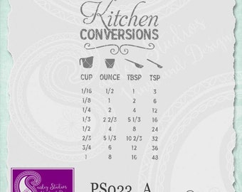 Kitchen Conversions Chart, Kitchen SVG files, Kitchen Tools SVG, Kitchen Reference Chart, Svg files, Silhouette Cut Files, Cricut Cut Files