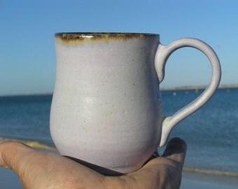 Lilac coffee mug - stoneware mug - ceramic coffee mug - Australian pottery