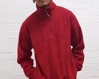 Half Zip Fleece Red