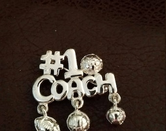 VINTAGE  CT #1 Coach sports pin  sports brooch