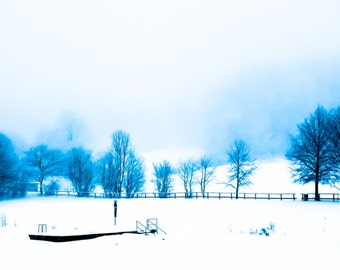 Photography, frozen lake in Panorama format 3:1
