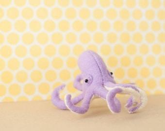 Winston the Octopus - Hand-sewn Stuffed Sea Creature, felt softie, ocean animal, octopus, kids decor, friend gift, pocket totem