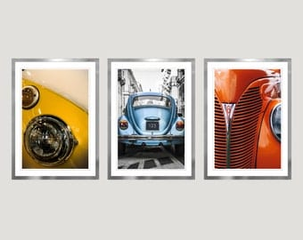 Retro Wall Art vw beetle art | etsy
