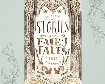 SALE! 2017 Calendar - Classic Stories and Fairy Tales