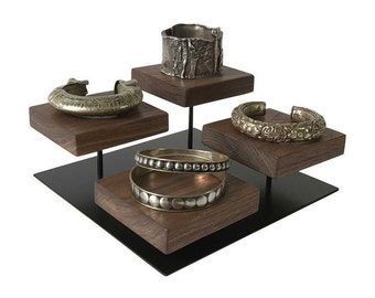 Bracelet display - Metal and Wood Jewelry Display for Craft Show Display or Retail Display