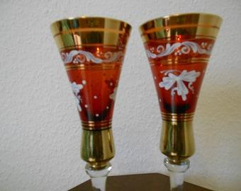 2 champagne glasses, champagne glasses, Sektflöten