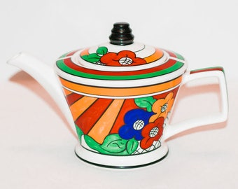 Past Times Inspired by Clarice Cliff's Art Deco 'Bizarre Ware' Teapot by Sadler