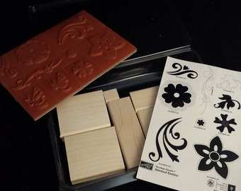 """Stampin' Up """"Two-Step Stampin' Stitched Exotics"""" NEW Stamp Set"""