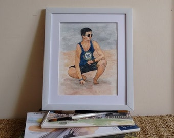Customised Hand-painted Watercolour, Personalised Painting from a photograph, Commissioned Artwork
