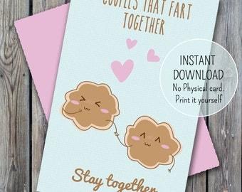 Fart love card, download valentine card, happy valentines day, valentine card, funny valentine card, fart love card, couple farting love