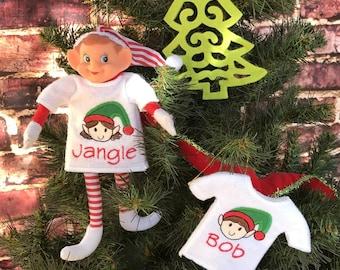 Elf doll shirt - Elf Clothes - Personalized Elf shirt - Christmas Elf shirt -  Christmas Tradition Elf - Christmas gift - Kids Elf Doll