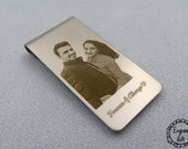 Custom Photo Engrave Handwriting , Signurate,Drawing Steel Money Clip, Bookmark