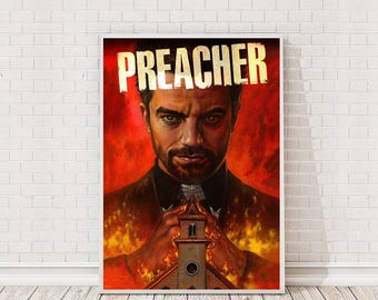 Preacher Poster Art Film TV Poster Classic Movie Poster