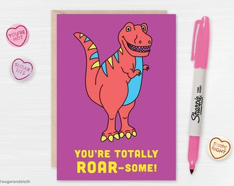 Dinosaur valentines card, cute valentine card, valentines day for girls, valentines day cards for boys, valentines day card kids, dinosaur