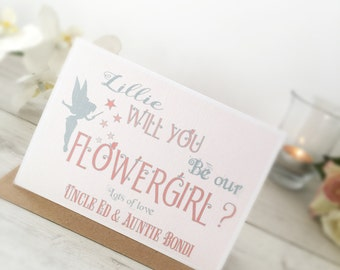 Will you be my Flower Girl Card,Personalised Flower Girl Card,Flower Girl,Cute Flower Girl Card,Personalised Will You Be My Flower Girl Card