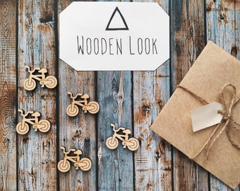 8 Pieces Bicycle Wood Tags, Wood Blanks, Pendants, Wood Pendant, Wood Craft Supply, Wood Supplies, Wood Squares, Craft Wood, Wood Pendants