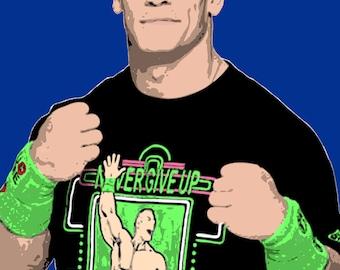 WWE John Cena Stylised Pop Art Poster Print