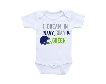 Football Baby Outfit or Gerber Onesie® Cute Baby Onesies® Seahawks Baby Girl Baby Boy Seahawks Onesie® Football Onesie® Baby Shower Gift