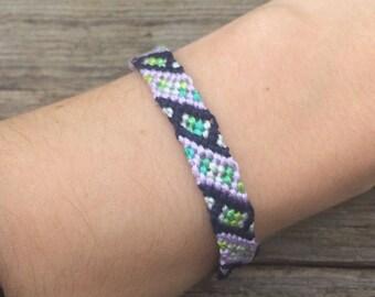 Blue, Pink, and Green Friendship Bracelet