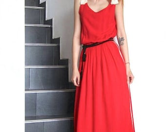 NEW Maxi  Red Dress / Maxi Boho Dress / Gipsy Dress / Bohemian Dress / Wholesale Dresses