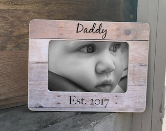 ON SALE New Daddy Father's Day Gift  Frame First Father's Day Frame Personalized Picture Frame