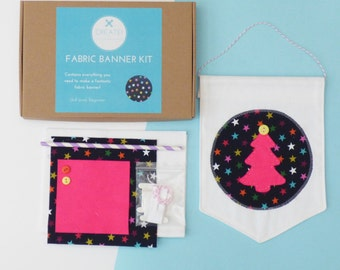 Modern Brights Make-Your-Own Fabric Banner Craft Kit from Create! Craft Kits by Holchester and Simmonds