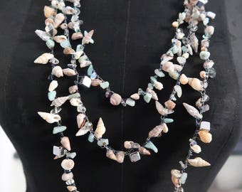 Handmade handmade necklace with shells true Jewels from the sea with real seashells