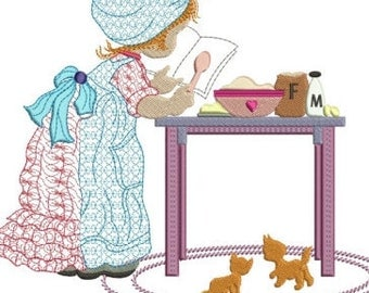 "Sarah kay baking instant machine embroidery download 3 diff sizes ( 8x7"" 6x6"" 5x5"" )"