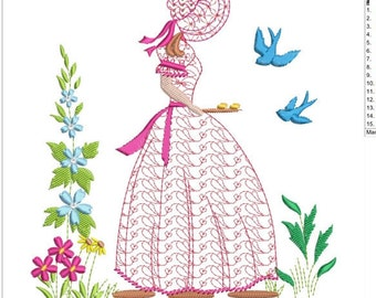 "Southern belle machine embroidery download 3 diff sizes ( 5X5   6X6   7X7 "")"