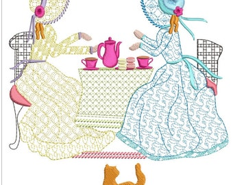 """Southern belle machine embroidery download 3 diff sizes ( 5.5x5.5   6x6   7x7"""")"""